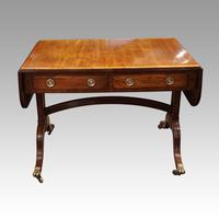 Regency Mahogany Inlaid Sofa Table (8 of 13)