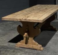 Large Rustic Bleached Oak Farmhouse Refectory Dining Table (2 of 25)