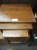 Nest of Three Solid Oak Occasional Tables (2 of 2)