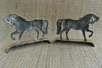 Fine Pair of Victorian Cast Brass Horse Hearth Ornaments Door Stop Door Porter (6 of 7)