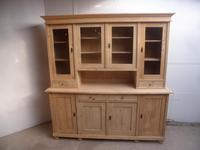 Cracking 4 Door Antique Pine Large Glazed Kitchen Dresser to paint / wax (4 of 8)
