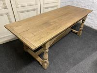 Bleached Oak Farmhouse Refectory Dining Table (22 of 22)