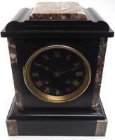 Antique French Slate & Marble Mantel Clock striking 8 day Mantle Clock (4 of 8)