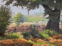 'Lincolnshire Summer' - Fine Mid Century English Landscape Watercolour Painting (4 of 11)