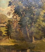 Antoine Chintreuil Fine 19th Century French Barbizon Landscape Oil Painting (6 of 13)