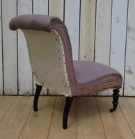 Antique French Slipper Fireside Chair For Re-upholstery (3 of 9)