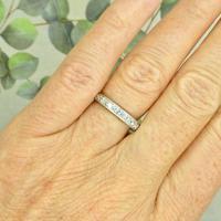 1920s Art Deco platinum diamond wedding band ~ full eternity ring 0.69ct ~ Size P 1/2 / 7.75 (3 of 9)