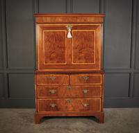 18th Century Walnut Escritoire Cabinet on Chest (3 of 14)