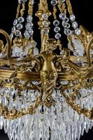 A Late 19th Century Gilt Bronze and Cut Glass Six Arm Chandelier (2 of 6)