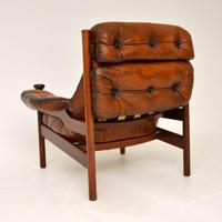 1960's Vintage Guy Rogers Leather Armchair (5 of 9)