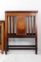 Pair of Edwardian Mahogany & Inlaid Single Beds (3 of 13)