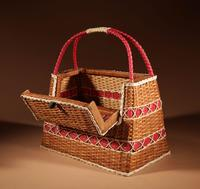 Art Deco Very Stylish Woven Wicker Willow Bag (4 of 7)