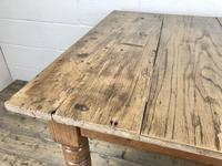 Antique Pine Farmhouse Kitchen Table with Oak Top (3 of 9)