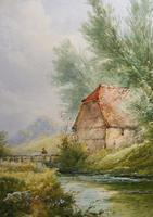 Watercolour Bates Brook Redhill Listed Artist H Rawson (8 of 12)