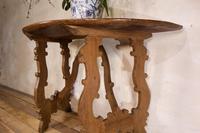 Charming 18th Century Italian Demi-Lune Lyre-Leg Fruitwood Table (7 of 13)