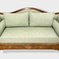 Walnut Biedermeier Sleight Style Sofa (4 of 10)