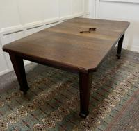 Victorian Arts and Crafts Oak Wind Out Table, Extending Dining Table