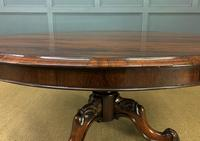 Victorian Round Rosewood Loo Table (3 of 17)