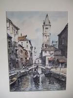 """Sirol"" Antonio Sirolli Watercolour of Venice (2 of 3)"