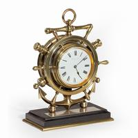Brass Ship's Novelty Clock Presented to Captain Tynte F Hammill RN (7 of 7)