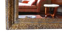Gilt Large 19th Century Overmantle or Wall Mirror (6 of 9)