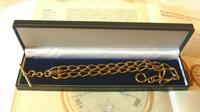 Antique Pocket Watch Chain 1890s Victorian Large Brass Albert With T Bar T*H (12 of 12)