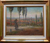 Attrib. to William Rothenstein Picardy Landscape 1938