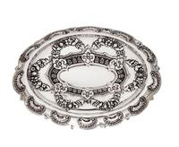 """Antique Victorian Sterling Silver 8"""" Dish / Bowl 1882 (8 of 8)"""