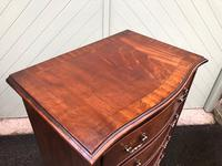 Antique Slim Mahogany Serpentine Chest of Drawers (4 of 8)