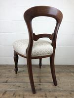 Single Victorian Mahogany Upholstered Chair (11 of 11)