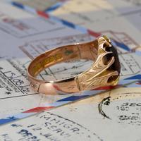 The Antique Edwardian 1904 Rose Gold Garnet Ring (3 of 6)