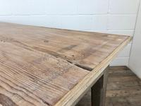 Early 20th Century Antique Oak & Pine Work Table (10 of 15)
