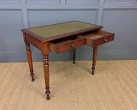 Victorian Mahogany 2 Drawer Writing Table (7 of 13)