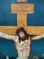 Superb 19th Century Old Master Biblical Christ Oil Portrait Painting - Gothic Oak Frame (9 of 17)