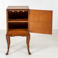 Quality Queen Anne Style Walnut Bedside Cabinet (8 of 8)