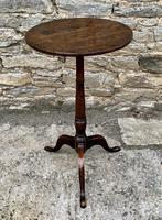 Antique Georgian Oak Candle Table (2 of 12)