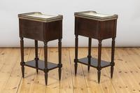 Pair of French Three Drawer Mahogany Bedside Cabinets (2 of 10)