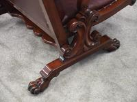 William IV Mahogany and Burgundy Leather Armchair (8 of 12)