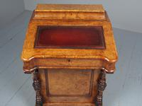 Antique Mid-victorian Burr Walnut Davenport Desk (4 of 12)
