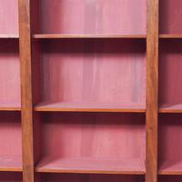 Antique Victorian Mahogany Tall Open Bookcase (4 of 7)
