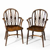Attractive Matched Set of Six Early 19th Century  Thames Valley Yew Tree Chairs (2 of 5)