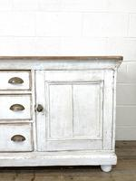 Distressed Antique Pine Cupboard with Painted Base (3 of 10)