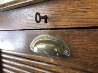 Antique Oak Tambour Filing Cabinet (8 of 9)
