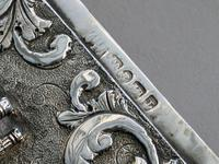 Victorian Silver Castle-top Card Case - St Luke's Church, Liverpool by Nathaniel Mills, Birmingham, 1845 (8 of 12)