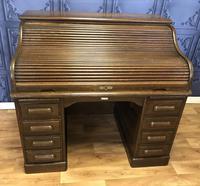 """""""Derby""""Oak Roll Top Desk"""