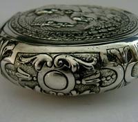Super Rare German 800 Solid Silver Napoleon Tobacco Snuff Box c.1900 (7 of 10)