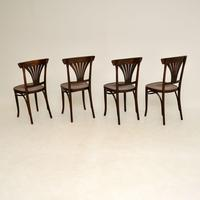 Set of 4 Antique Bentwood Cafe Dining Chairs (11 of 12)