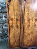 Antique Figured Walnut Triple Wardrobe (7 of 13)