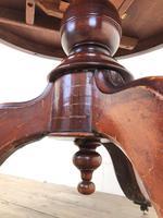 Victorian Mahogany Circular Snap Top Table (4 of 10)