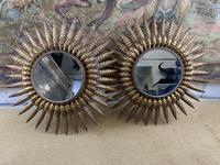 Pair of Spanish Gilt Brass Wall Mirrors (2 of 7)